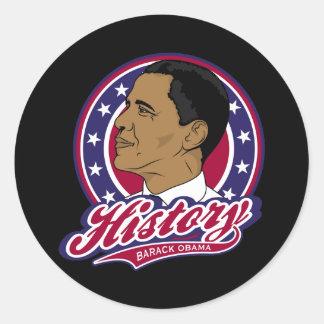 Historia de Barack Obama Pegatina Redonda