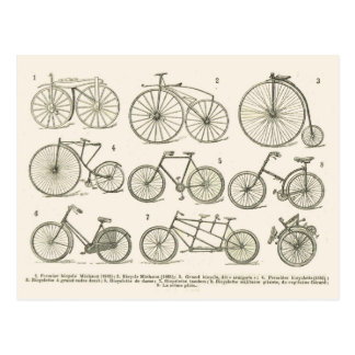Historia de bicicletas francesas, publicada en 192 tarjeta postal