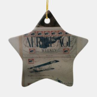 Historia de la aviación de la letra del vintage adorno de cerámica en forma de estrella