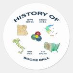 Historia de la bola de Bocce Pegatinas Redondas
