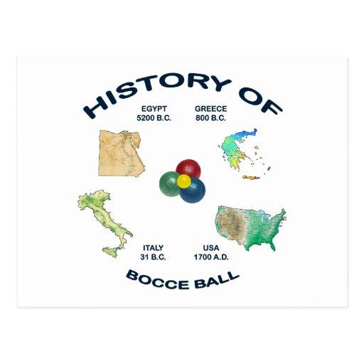 Historia de la bola de Bocce Postales