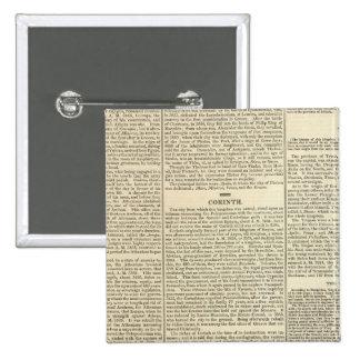 Historia de la cronología de Grecia Pin Cuadrada 5 Cm