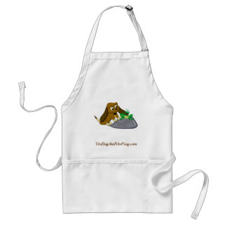 historia de la rana del beagle del dibujo animado  delantales