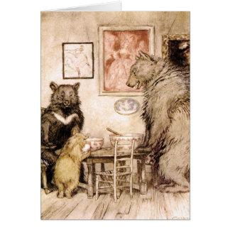 Historia de los tres osos por la tarjeta de