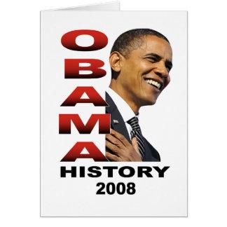Historia de Obama (blanca) Tarjeta De Felicitación