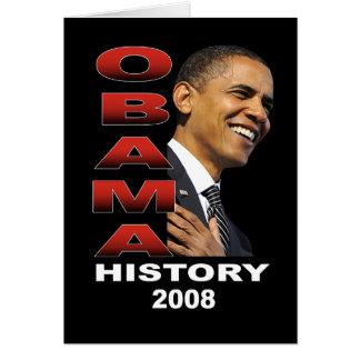 Historia de Obama (negro) Tarjeta De Felicitación