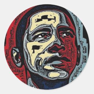 Historia de Obama Pegatina Redonda