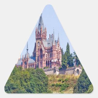 Historia de Schloss Drachenburg Bonn que dice el Pegatina Triangular