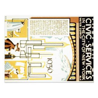Historia de servicios cívicos en el poster de fotografía