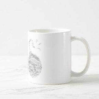 Historia de una taza de Wordle de la mujer
