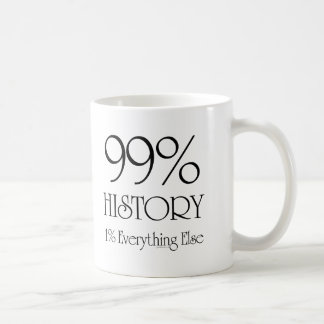 Historia del 99% taza básica blanca
