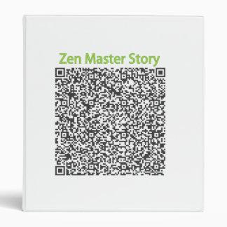Historia del amo de zen en código de QR
