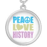 Historia del amor de la paz colgante