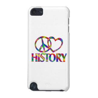 Historia del amor de la paz funda para iPod touch 5G