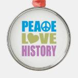Historia del amor de la paz ornamentos de reyes