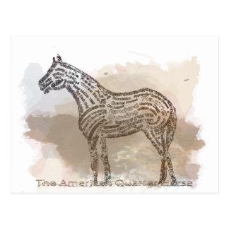 Historia del caballo cuarto americano en Typograph Postal