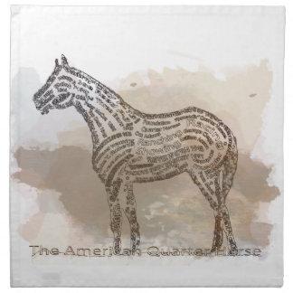 Historia del caballo cuarto americano en Typograph Servilletas