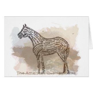 Historia del caballo cuarto americano en Typograph Tarjeta De Felicitación