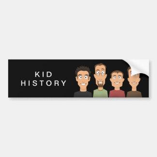 Historia del niño etiqueta de parachoque