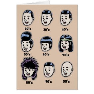 Historia del pelo para hombre tarjetas