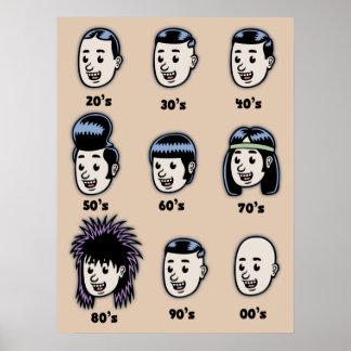 Historia del pelo para hombre posters