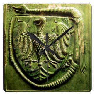 historia del sello de la baldosa cerámica de reloj cuadrado