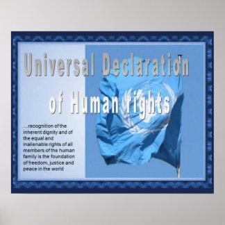 Historia, derechos humanos, declaración impresiones