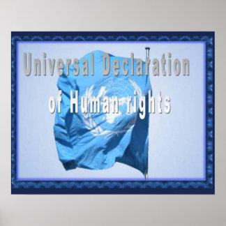 Historia, derechos humanos, declaración y poster