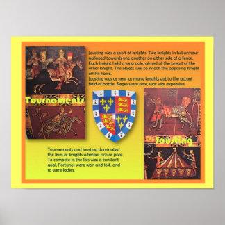 Historia, Edades Medias, torneos medievales Póster