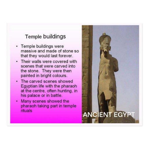 Historia, Egipto antiguo, edificios del templo Postal