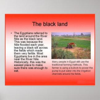 Historia, Egipto antiguo, el Nilo, tierra negra Impresiones