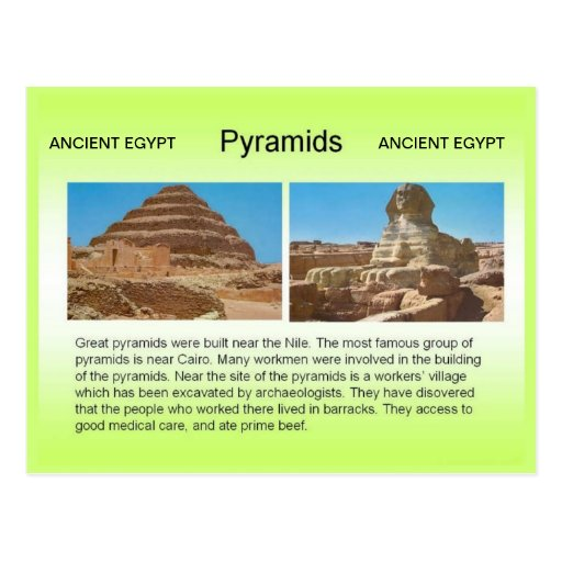 Historia, Egipto antiguo, pirámides Postal