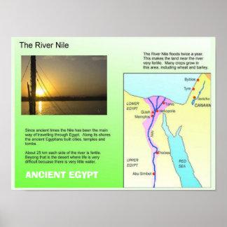 Historia, Egipto antiguo, río el Nilo Poster