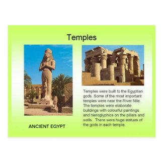 Historia, Egipto antiguo, templos Postal