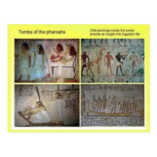 Historia, Egipto antiguo, tumbas del Pharoahs Postales