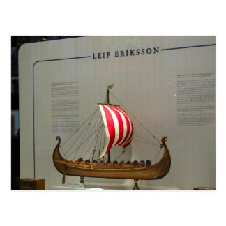 Historia, exploradores, Leif Erikson Tarjeta Postal
