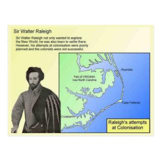 Historia, exploradores, sir Walter Raleigh Postal