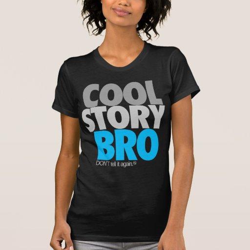 """Historia fresca Bro"" (azul de cielo) Camisetas"