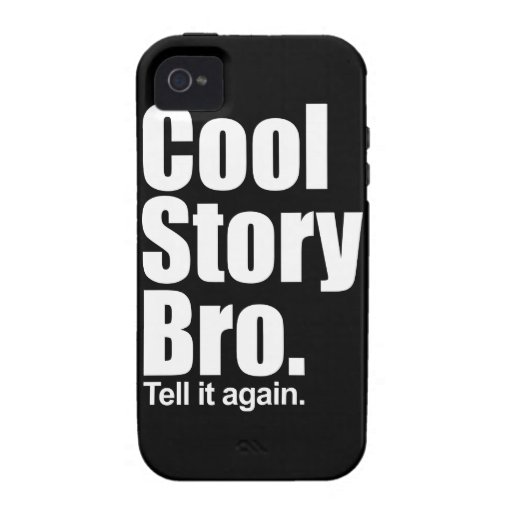 Historia fresca Bro. Caso del iPhone 4 de Tough™ iPhone 4/4S Carcasa