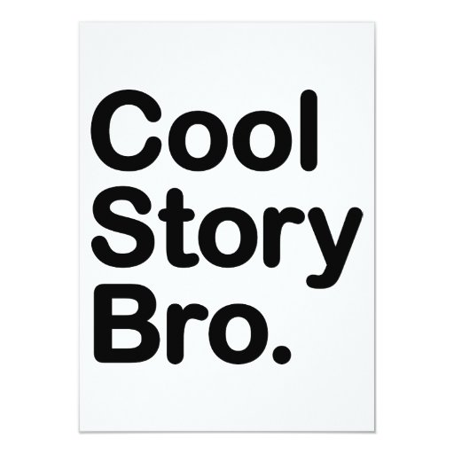 Historia fresca Bro. Dígalo otra vez Comunicado