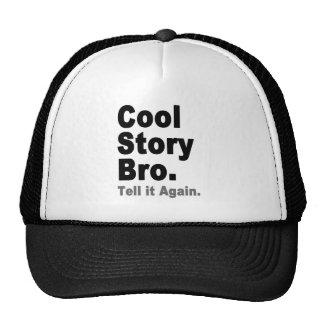 Historia fresca Bro. Dígalo otra vez. Internet Gorras