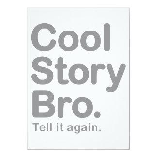 """Historia fresca Bro. Dígalo otra vez Invitación 4.5"""" X 6.25"""""""