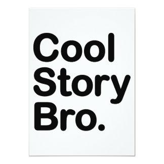 """Historia fresca Bro. Dígalo otra vez Invitación 5"""" X 7"""""""