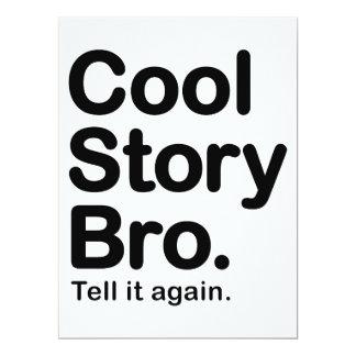 """Historia fresca Bro. Dígalo otra vez Invitación 6.5"""" X 8.75"""""""