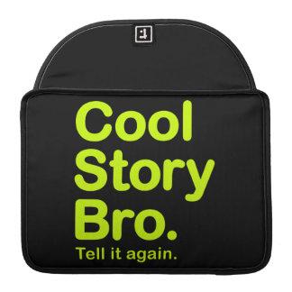 Historia fresca Bro. Favorable manga de la aleta Funda Macbook Pro