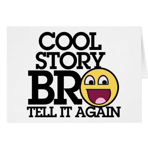 Historia fresca Bro Felicitaciones