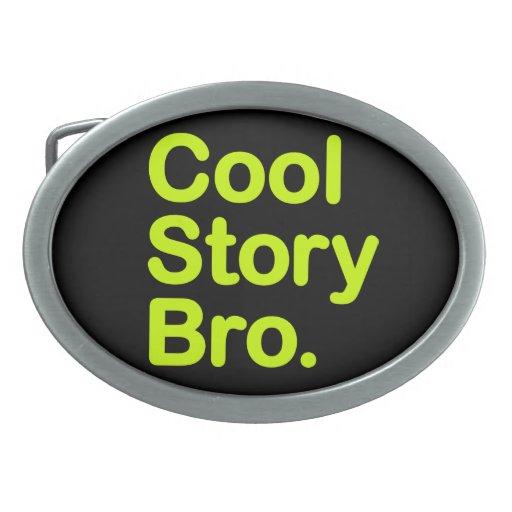 Historia fresca Bro. Hebilla adaptable del fondo Hebillas Cinturon Ovales