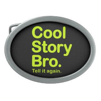 Historia fresca Bro. Hebilla adaptable del fondo Hebilla Cinturon Oval
