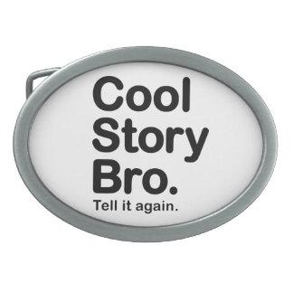 Historia fresca Bro. Hebilla adaptable del fondo Hebillas Cinturón Ovales