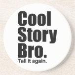 Historia fresca Bro. Práctico de costa Posavasos Cerveza